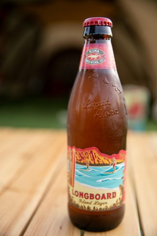 伊良湖キャンプ場でハワイビール