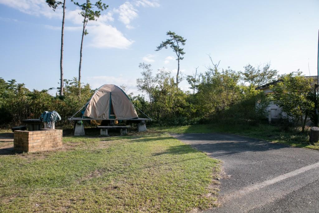伊良湖キャンプ場 常設テントサイト1
