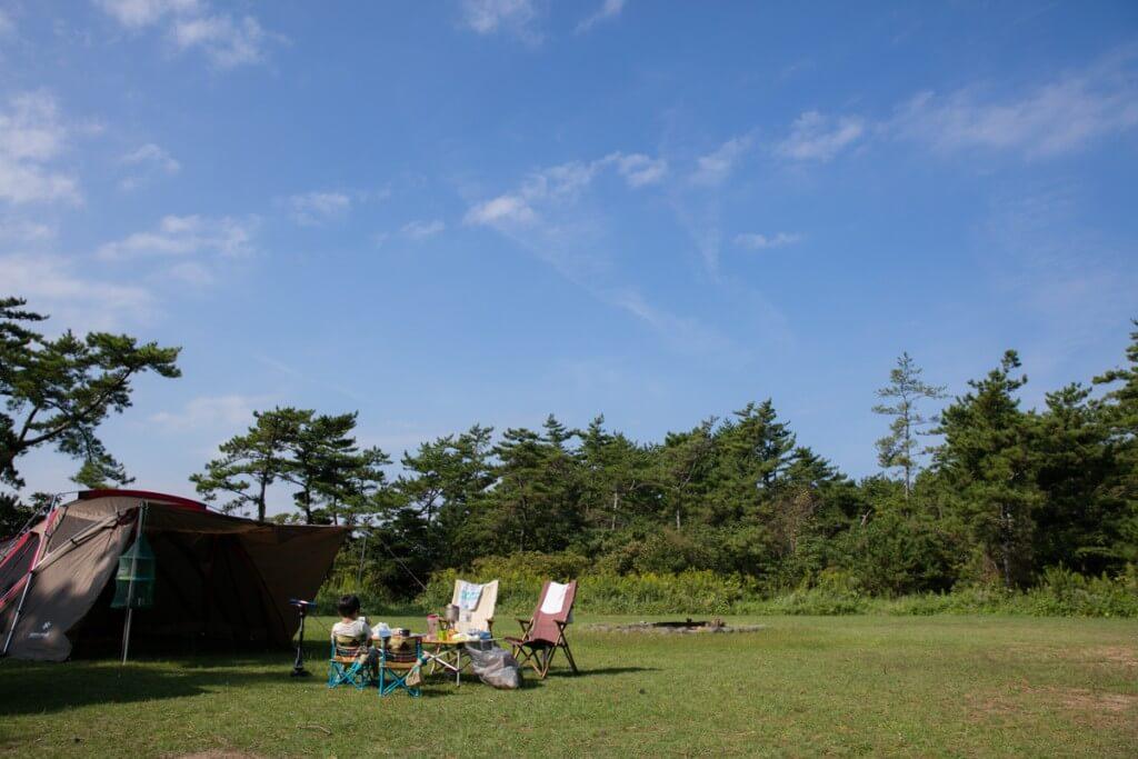 伊良湖キャンプ場 フリーサイトで貸し切りキャンプ