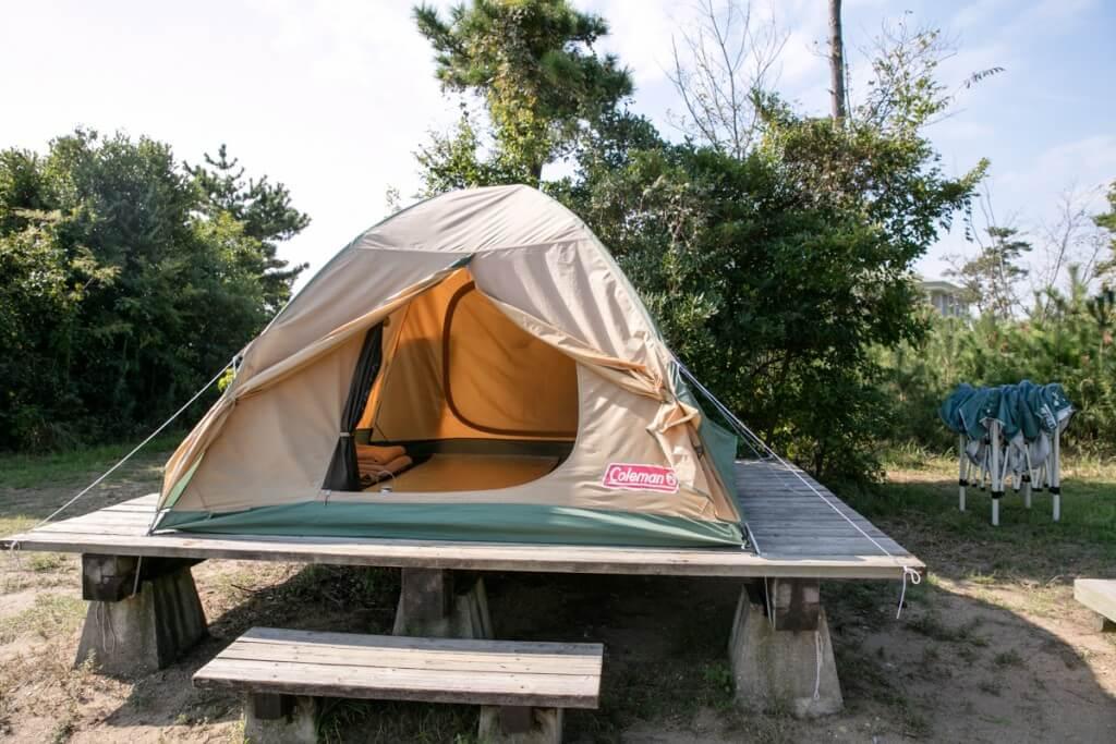 伊良湖キャンプ場 常設テントサイト2