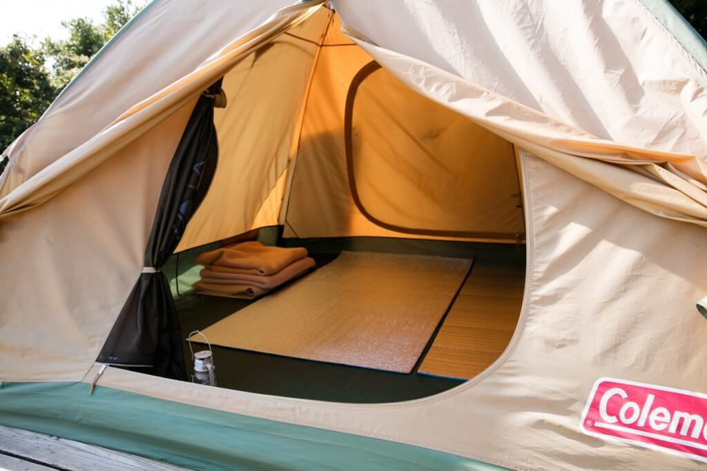 伊良湖キャンプ場 常設テントサイト3