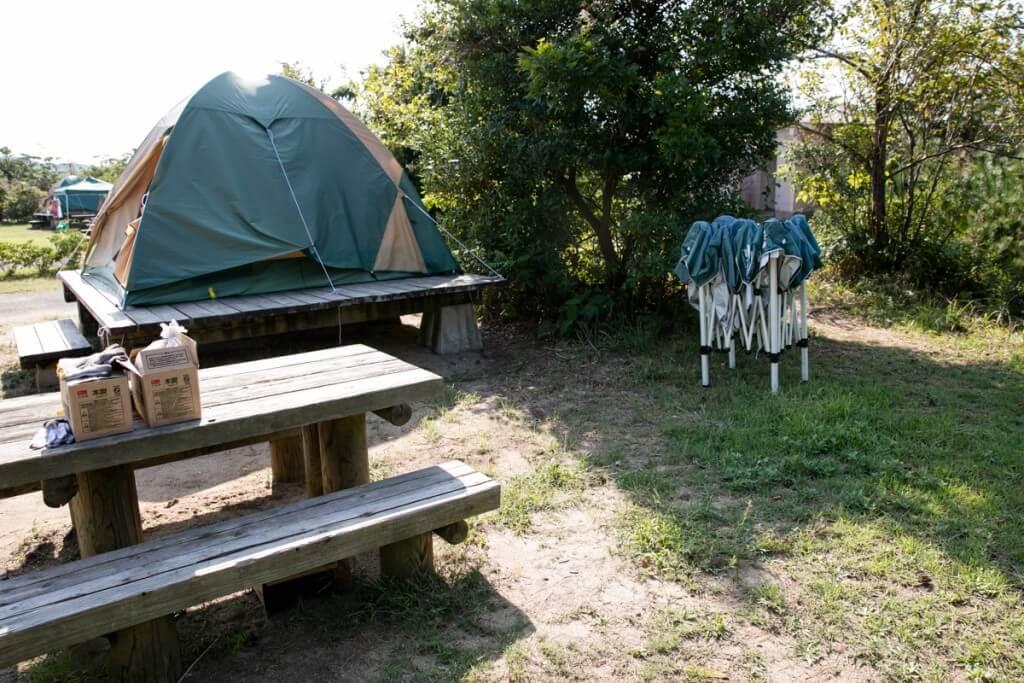 伊良湖キャンプ場 常設テントサイト4