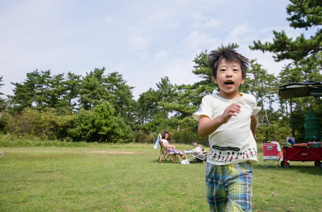 伊良湖キャンプ場 フリーサイトで遊ぶ1