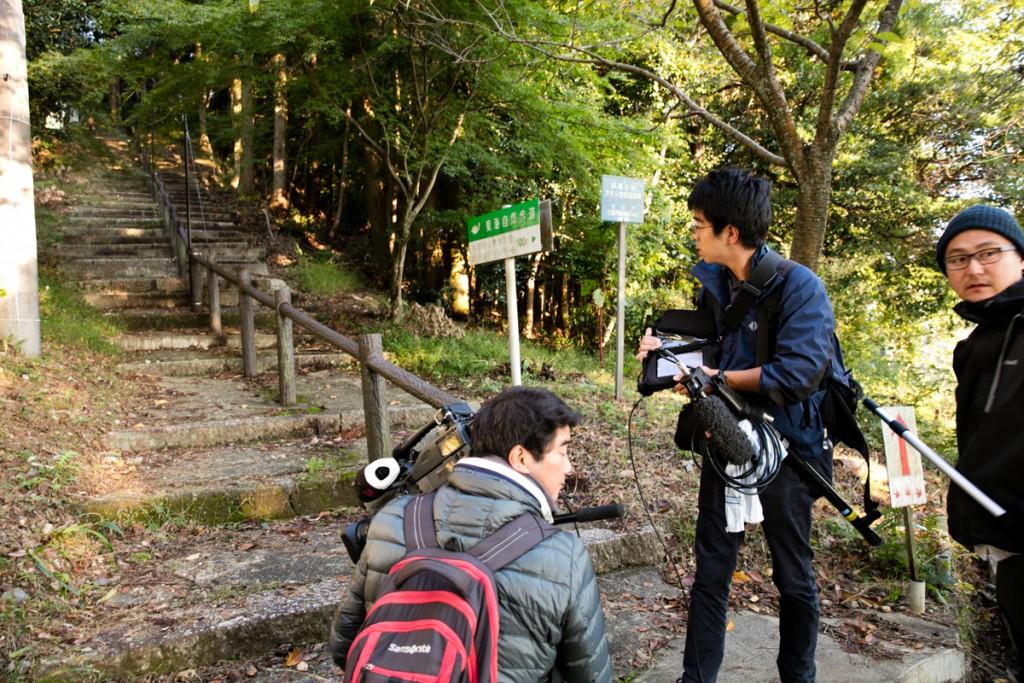 藤原岳 登山道入口で撮影開始