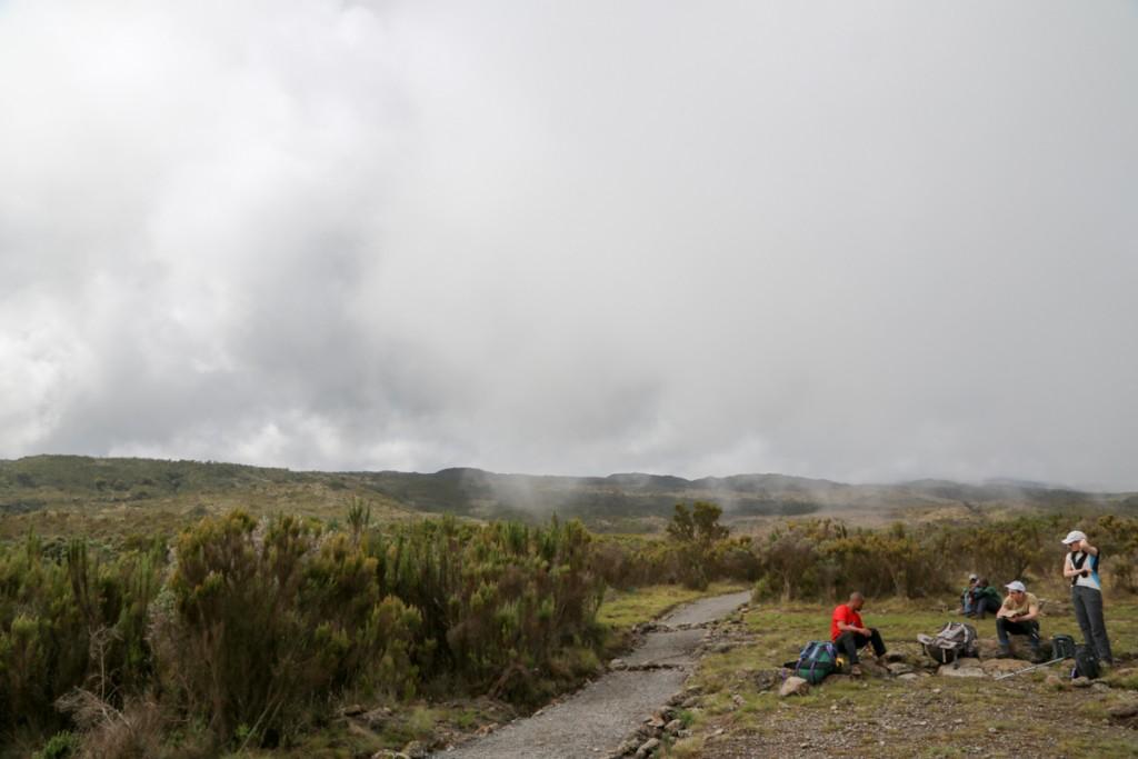 キリマンジャロ登山 ロンガイルート 休憩場所