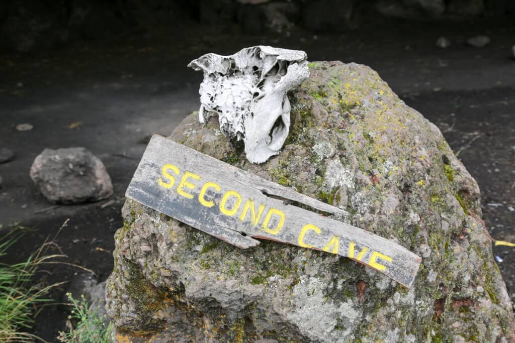 キリマンジャロ登山 ロンガイルート second cave 標識