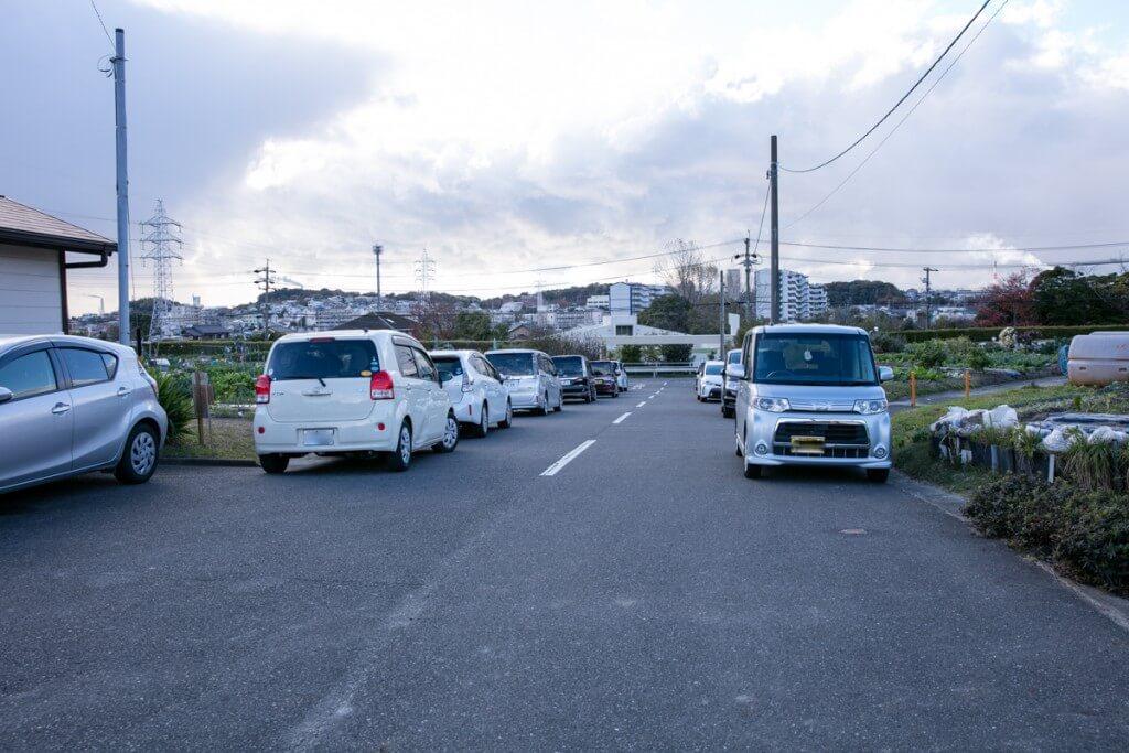 愛知県東海市 みかん狩り クラインガルテン 駐車場2