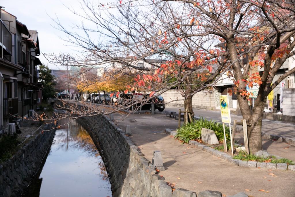 三重県桑名市 MuGicafe 近くの小川
