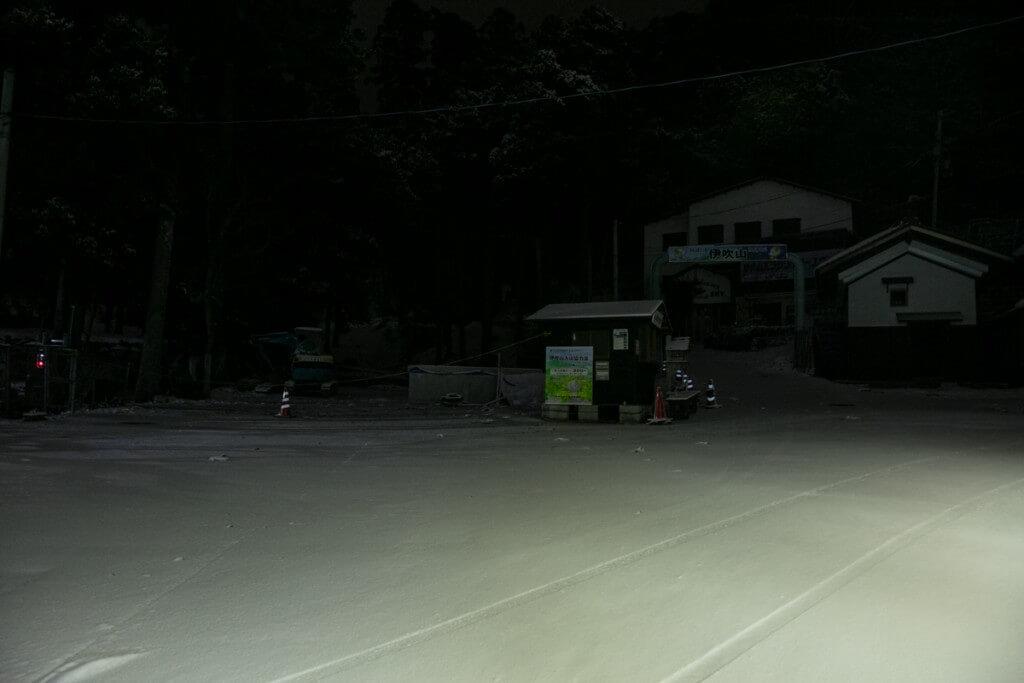 伊吹山 冬の駐車場