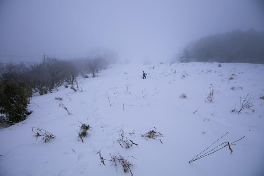 冬の伊吹山 二合目〜三合目1