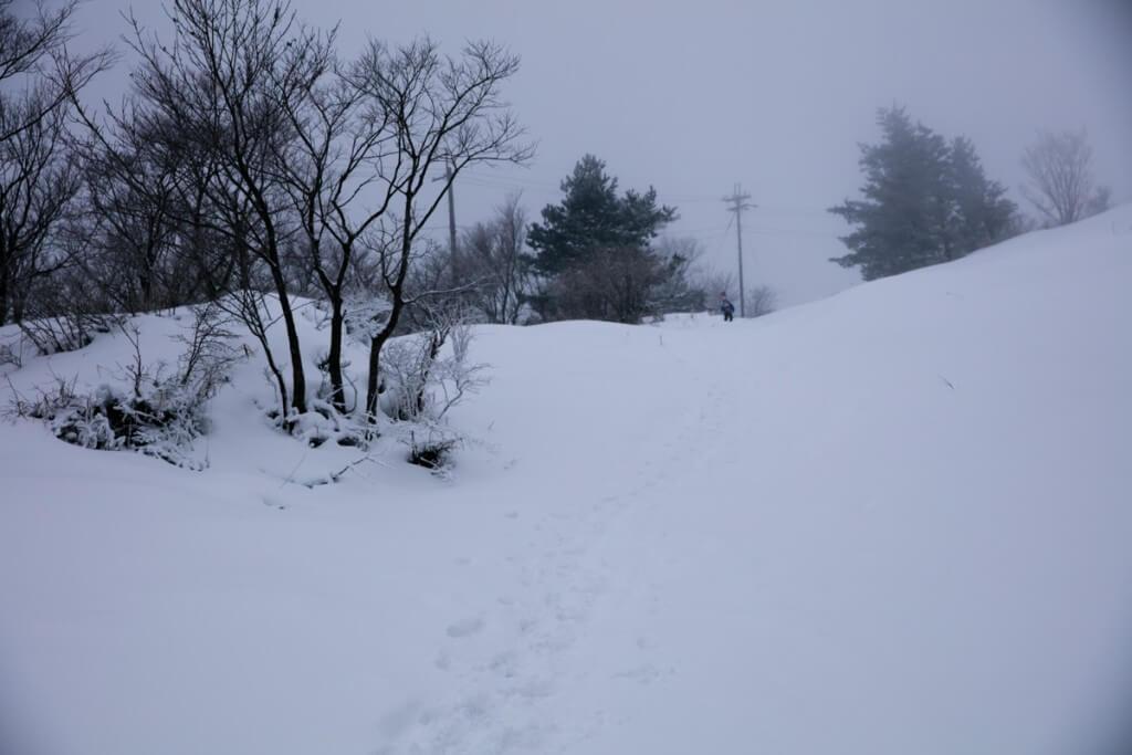 冬の伊吹山 二合目〜三合目3