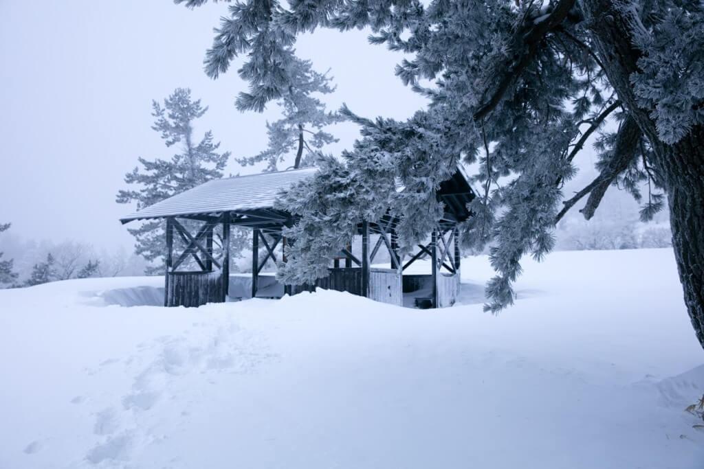 冬の伊吹山 三合目2