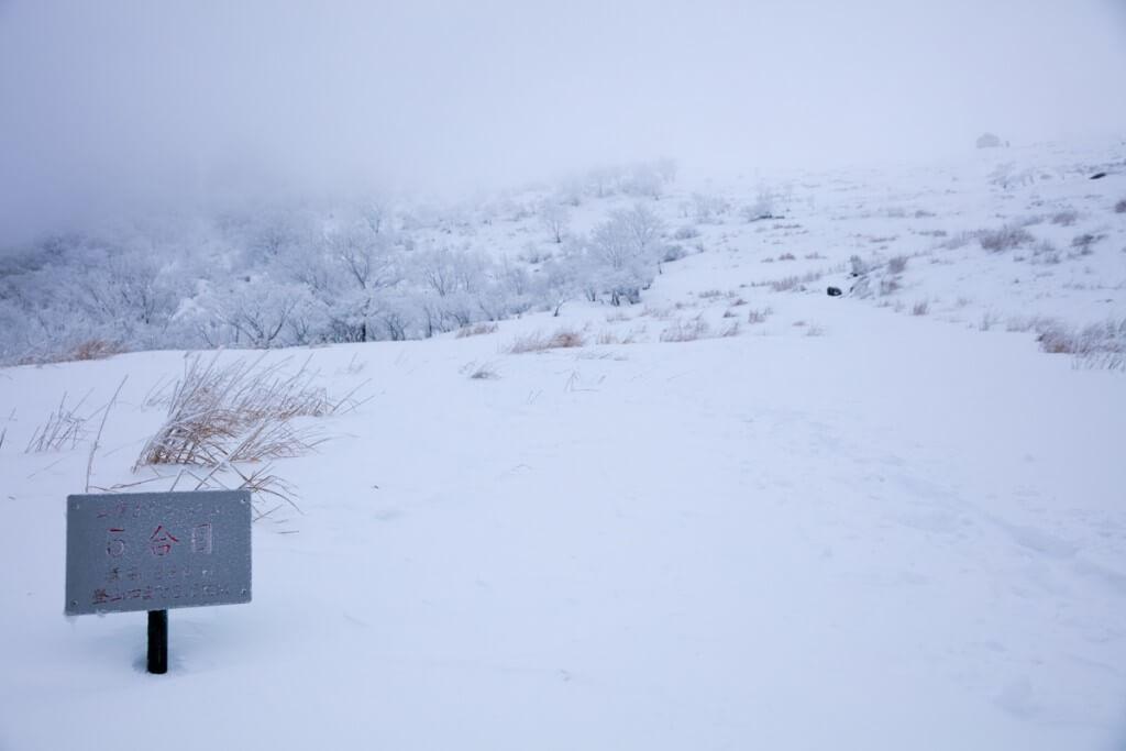 冬の伊吹山 五合目
