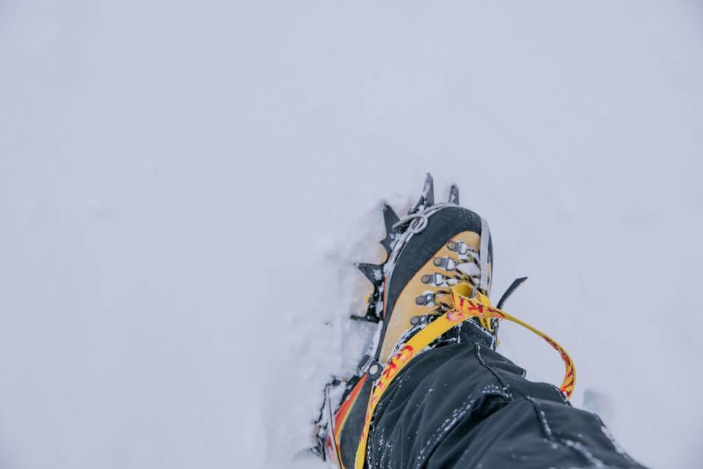 冬の伊吹山 アイスバーン