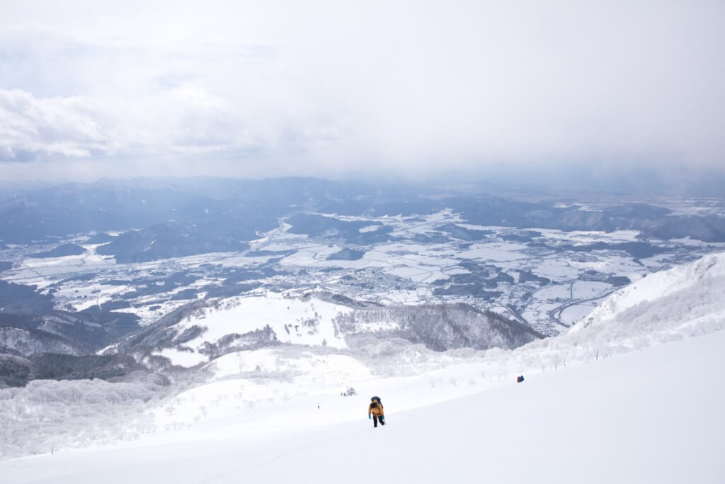 冬の伊吹山 七合目からの景色