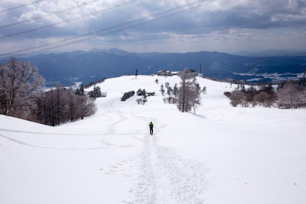 冬の伊吹山 四合目〜三合目1
