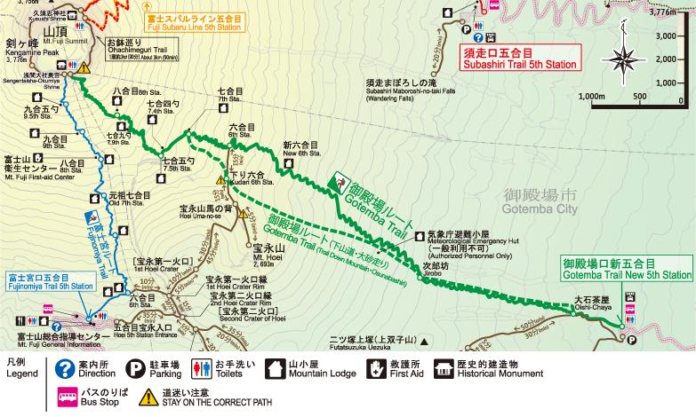 御殿場ルート 地図