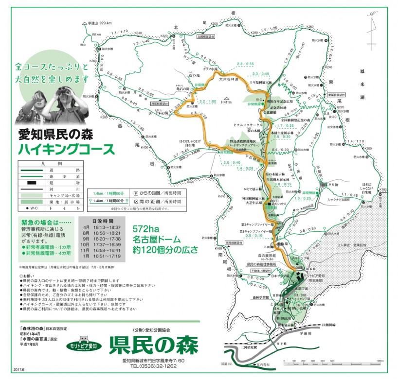 愛知県民の森 滝周遊コース