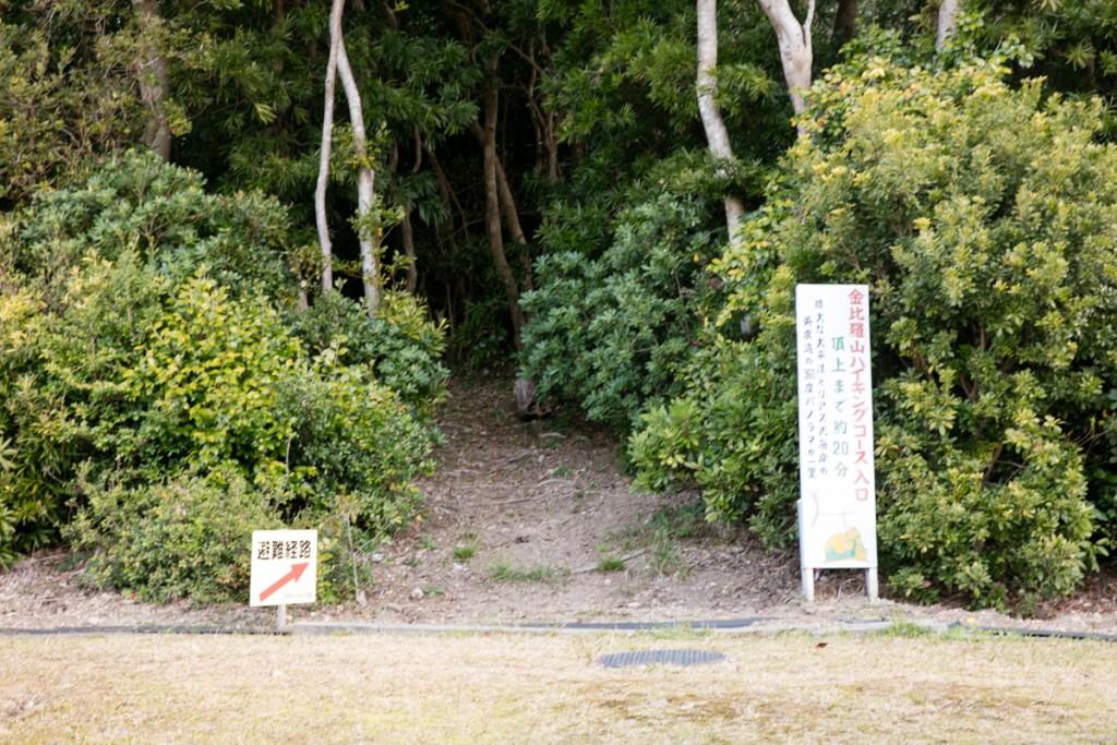 金比羅山ハイキングコース入口