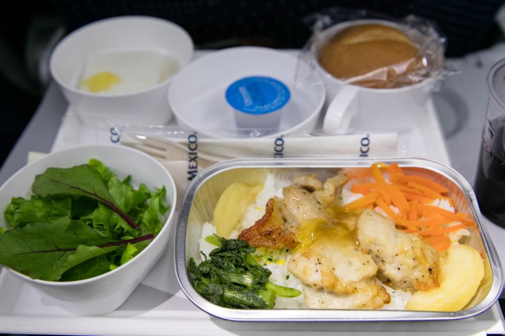 アエロメヒコ航空AM057便 夕食