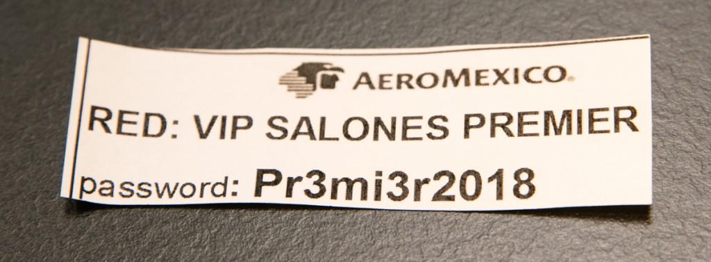メキシコシティ国際空港 アエロメヒコ航空ラウンジ Wi-Fi