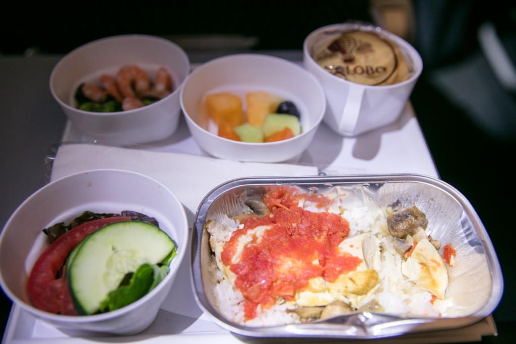 アエロメヒコ航空AM058便 夕食