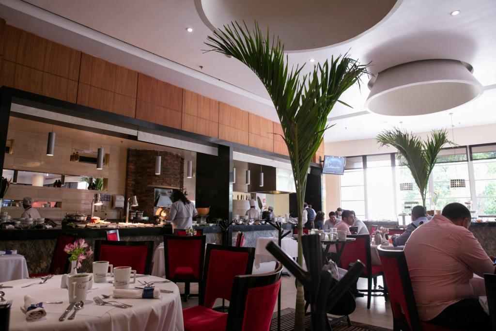 メキシコ アグアスカリエンテス マリオットホテル 朝食レストラン