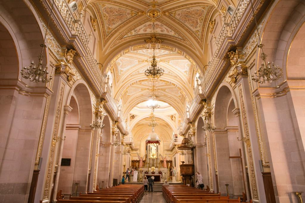 メキシコ アグアスカリエンテス 大聖堂 内部