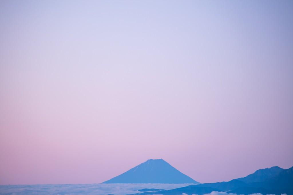 蝶ヶ岳からの富士山