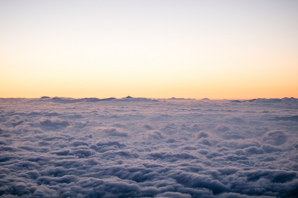 蝶ヶ岳からの雲海1