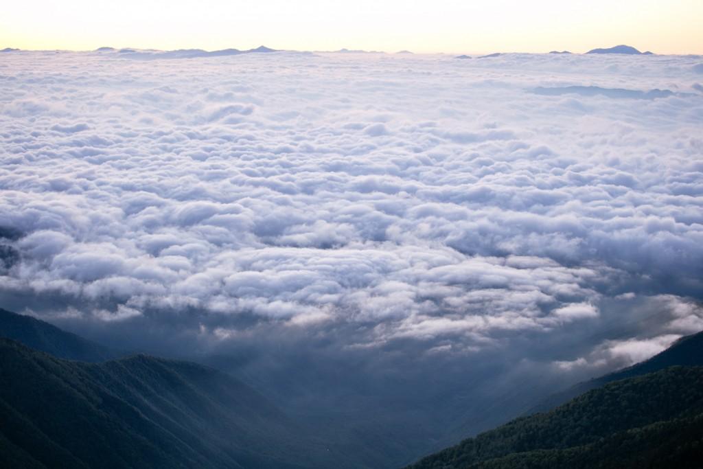 蝶ヶ岳からの雲海2