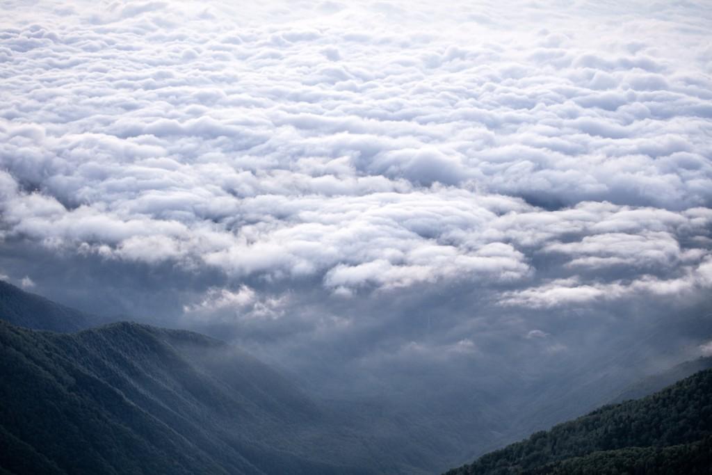 蝶ヶ岳からの雲海4