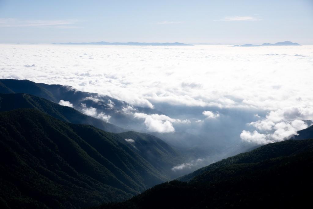 テント場からの雲海