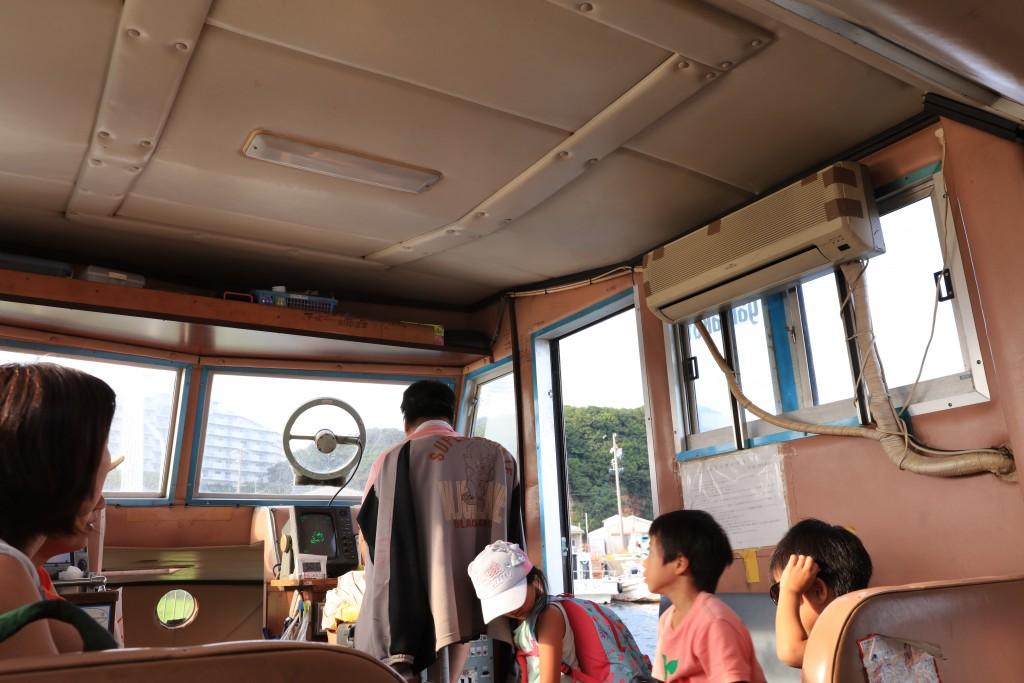 日間賀島日帰り海鮮バーベキュー「勇盛」船内1