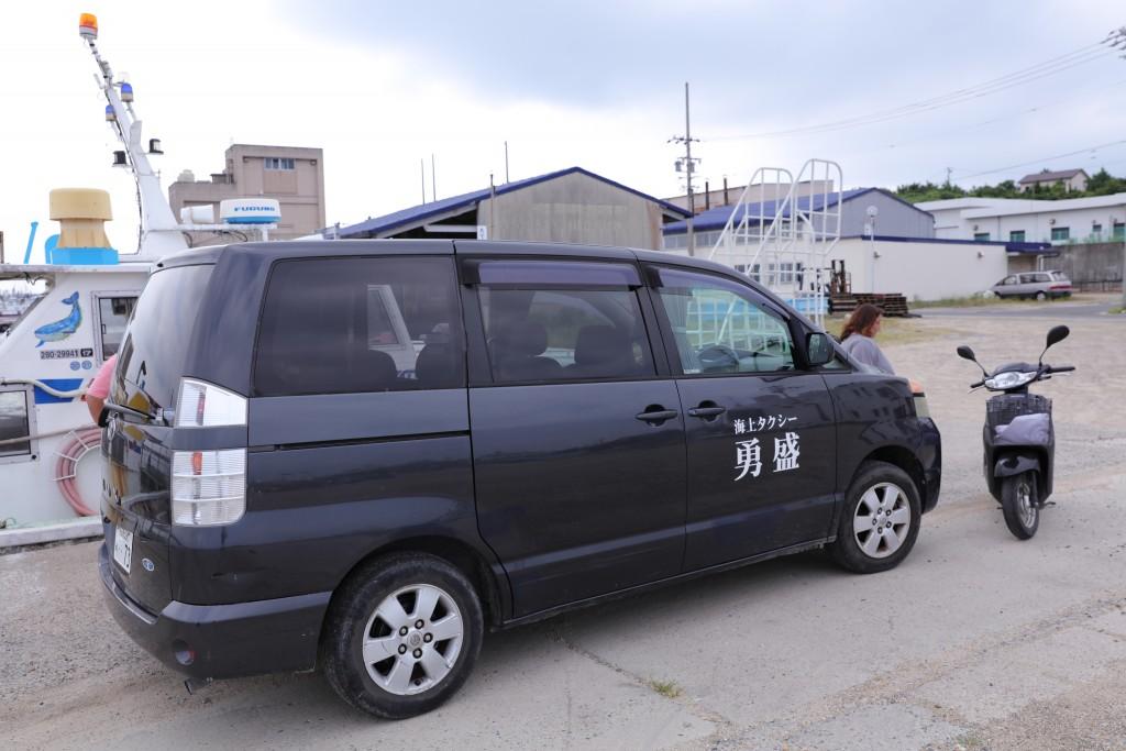 日間賀島日帰り海鮮バーベキュー「勇盛」島内送迎車
