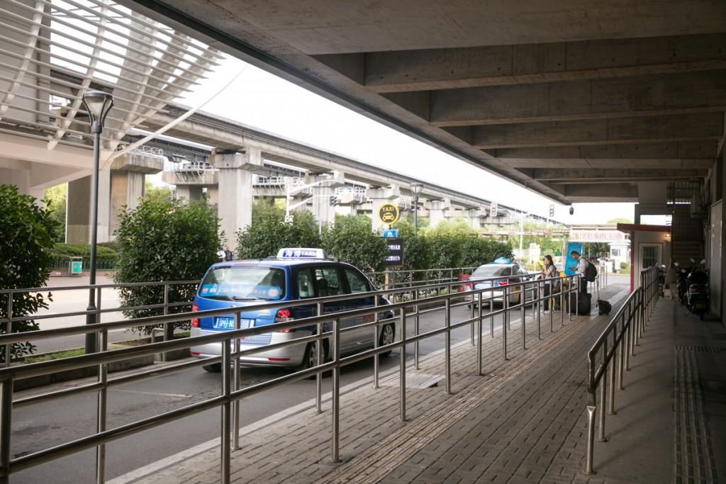 上海 リニアモーターカー 龍陽路站駅 タクシー乗り場