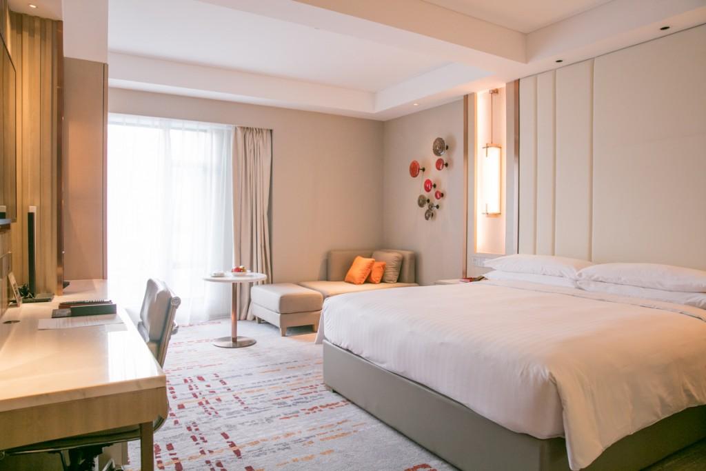 上海 マリオットホテル 虹橋 ベッドルーム