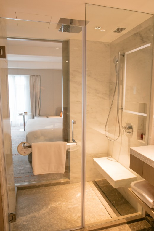 上海 マリオットホテル 虹橋 シャワー室