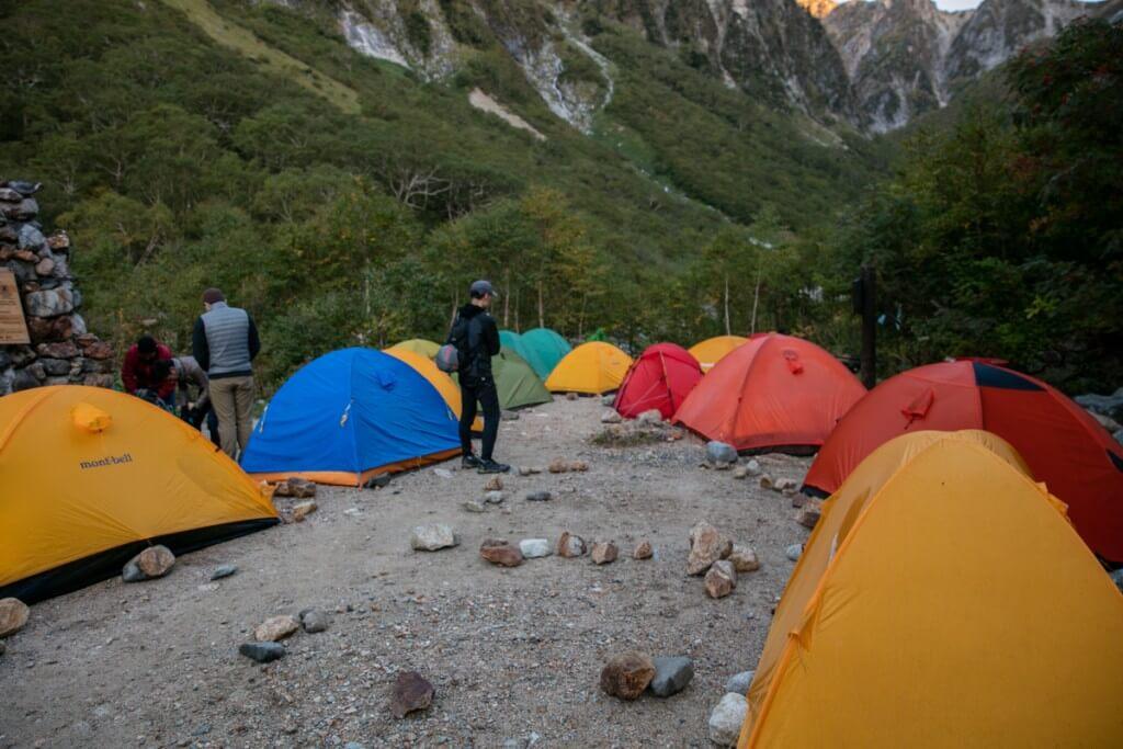 ババ平のテント場