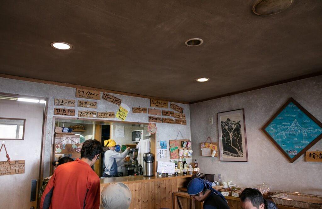 槍ヶ岳山荘 昼食レストラン