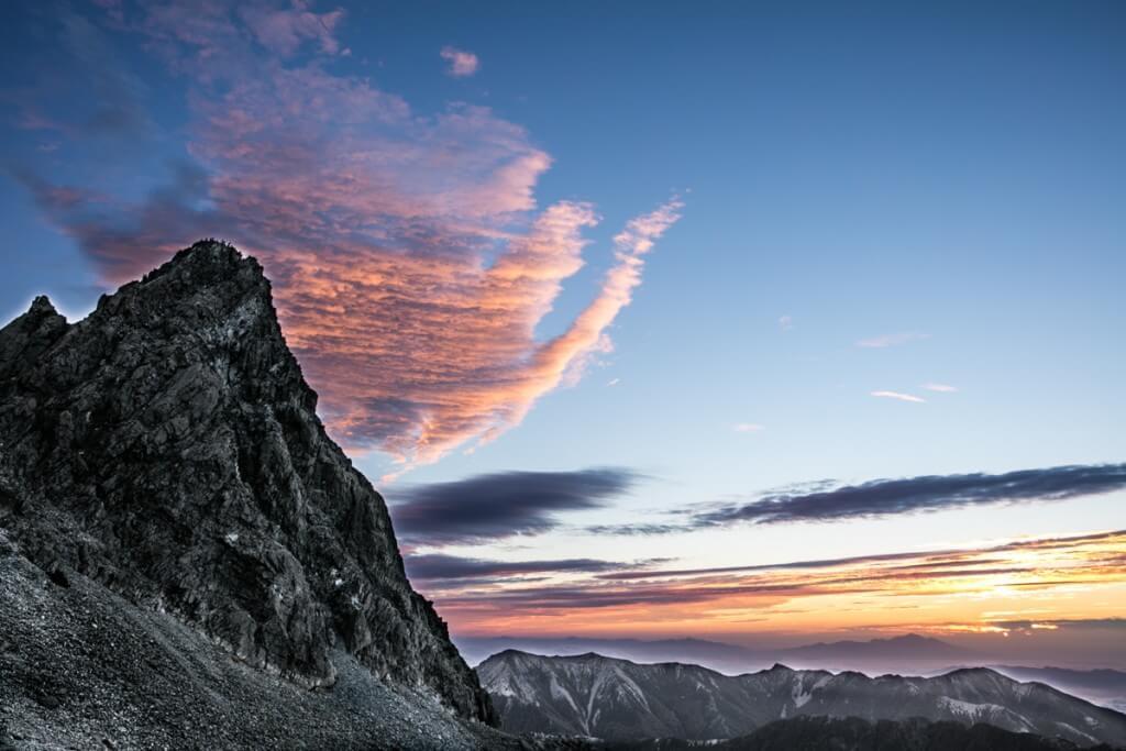 槍ヶ岳の日の出直前