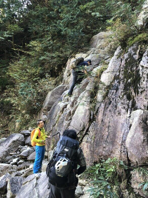 御在所岳 藤内壁 取付き地点2