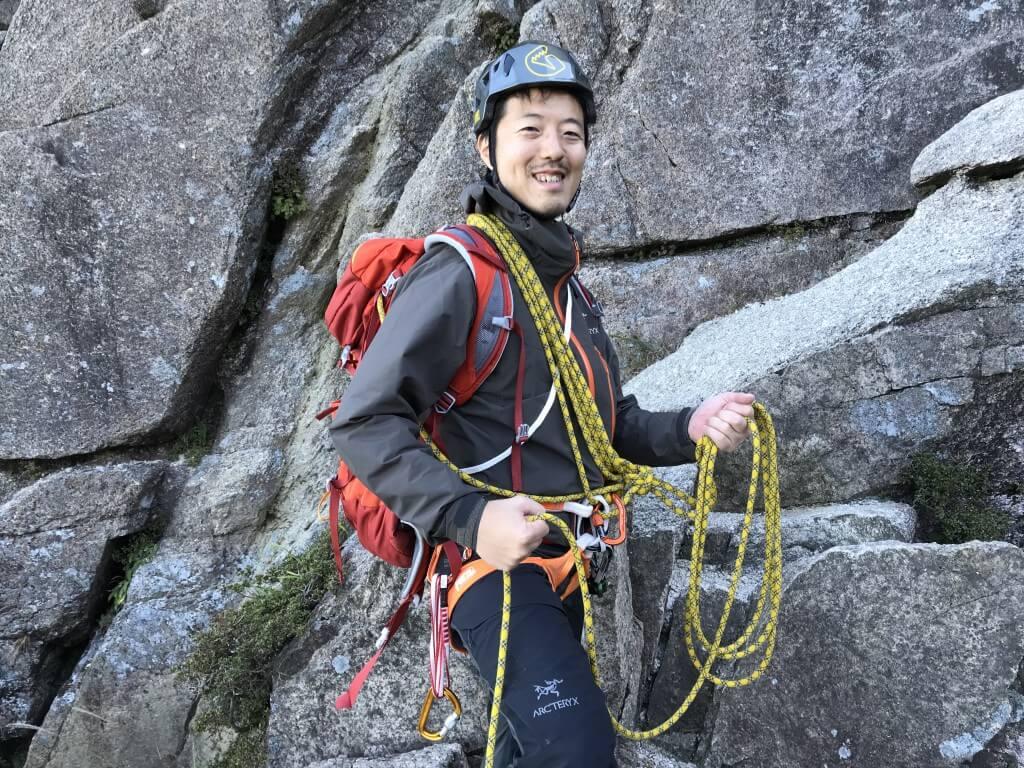 登山ガイドのショートロープ