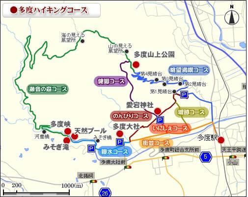 多度山 コースマップ