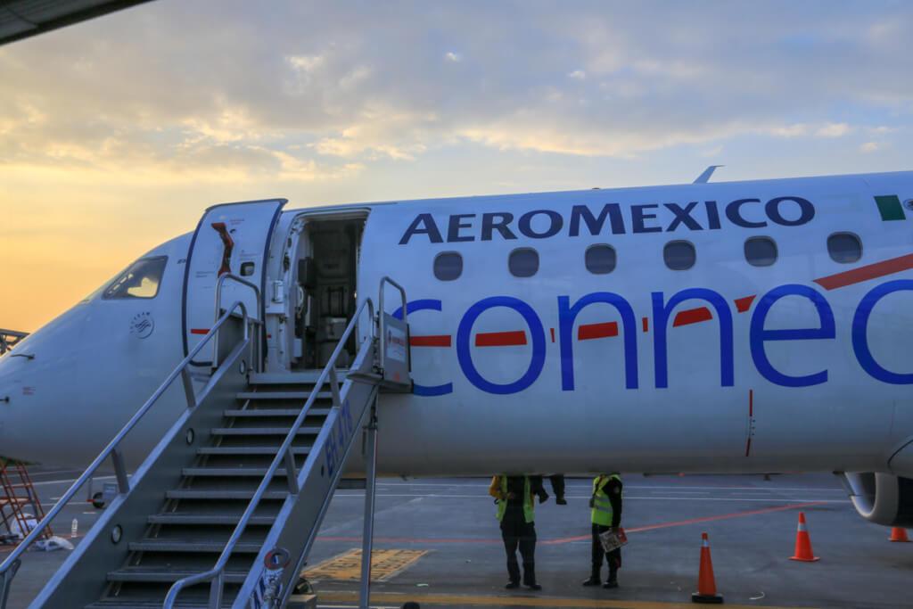 アエロメヒコ航空の飛行機
