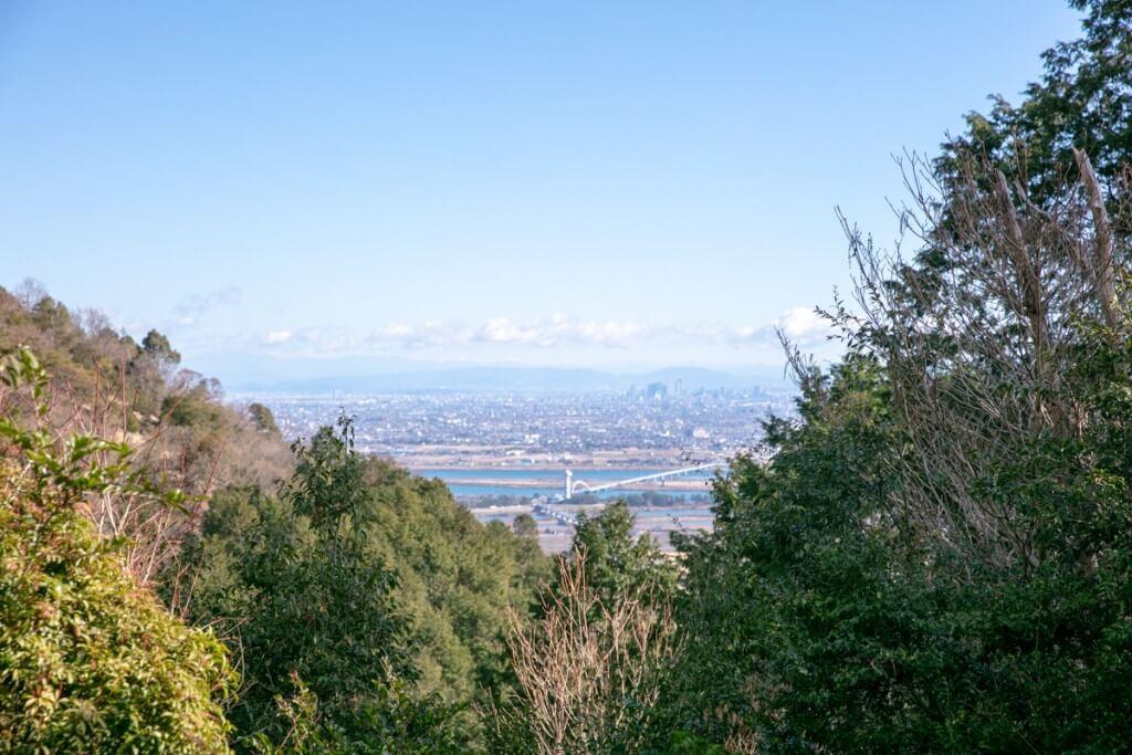 多度山 健脚コースからの眺望