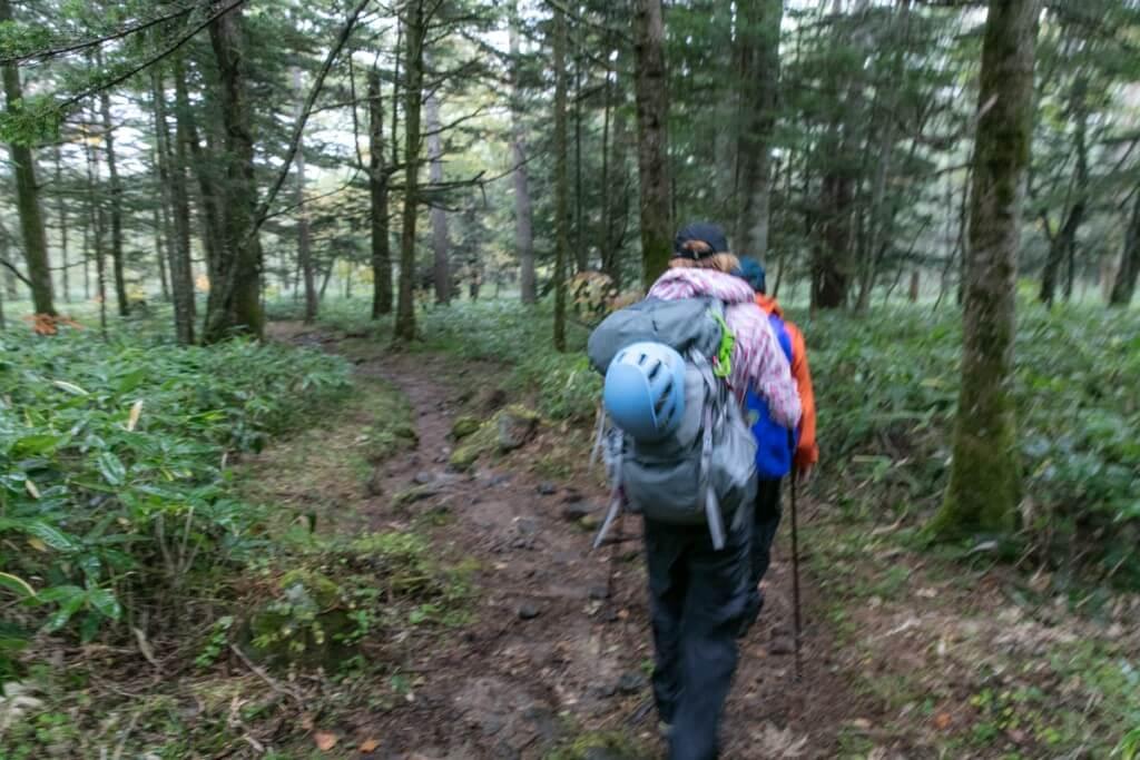 西穂高岳 登山道