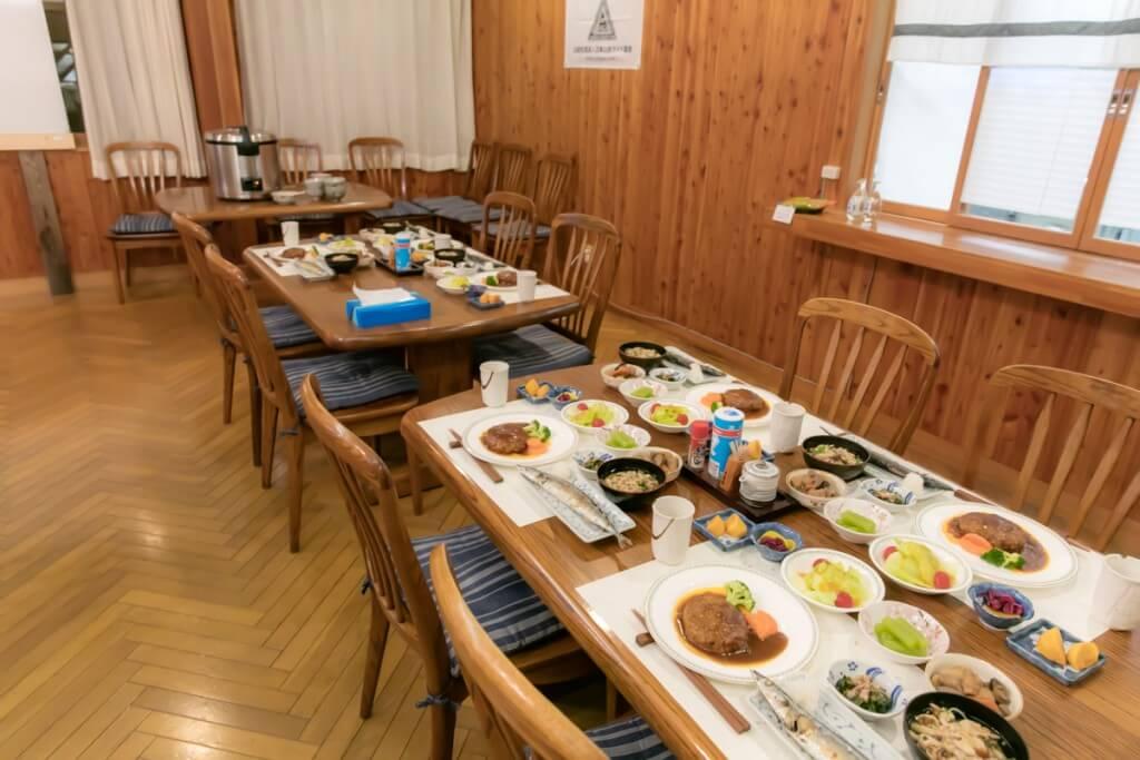 上高地アルプス山荘 1日目夕食