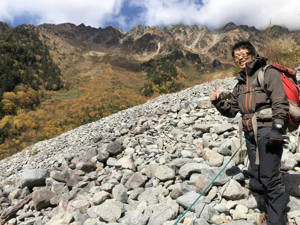 岳沢登山道2