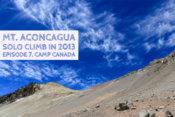 アコンカグア登山 キャンプカナダから見上げる